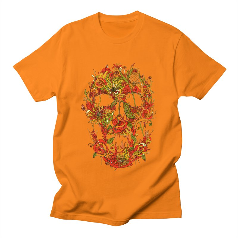 Skull Flora Women's Unisex T-Shirt by nicebleed
