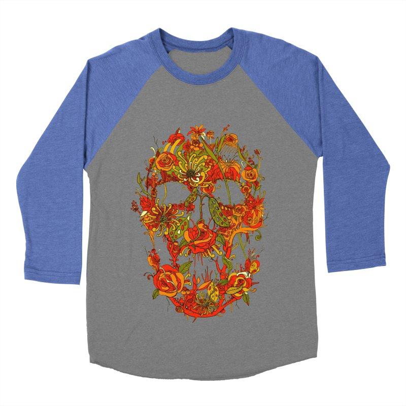 Skull Flora Women's Baseball Triblend T-Shirt by nicebleed