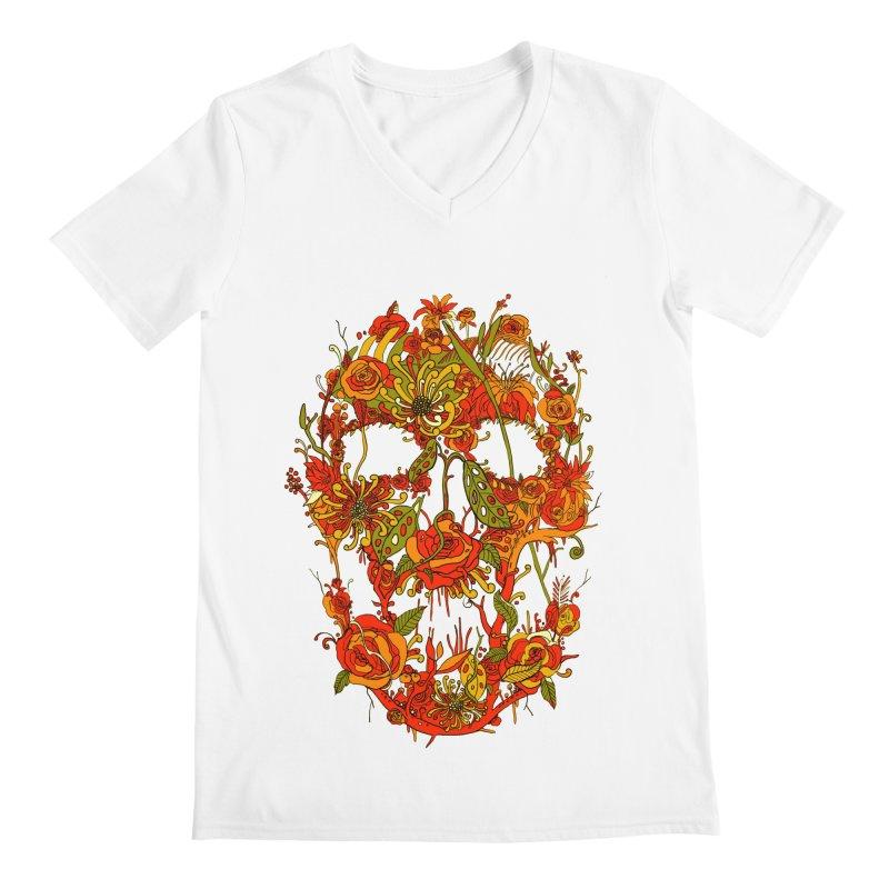 Skull Flora Men's V-Neck by nicebleed