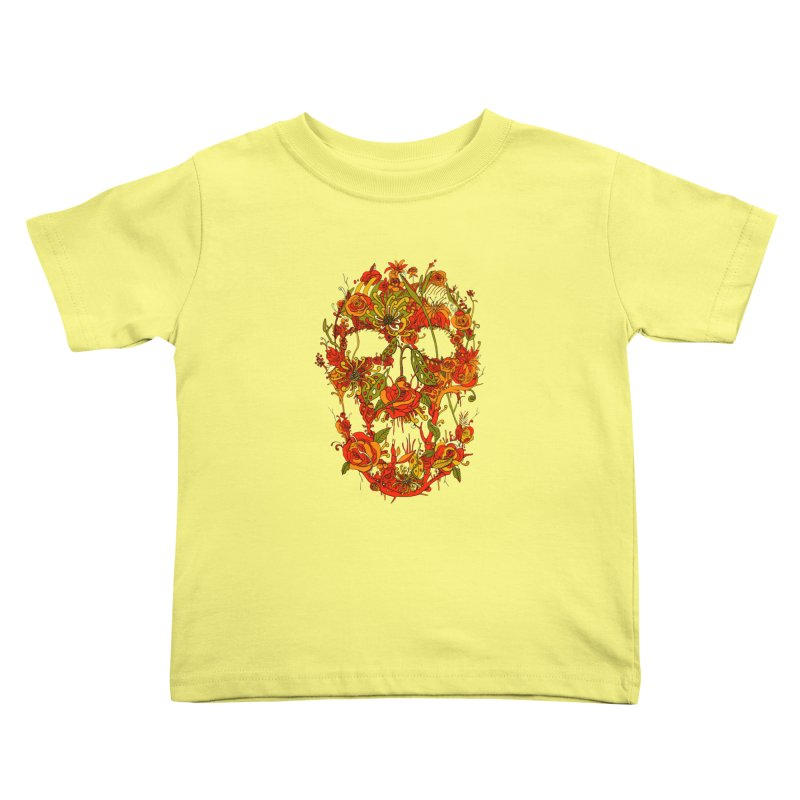 Skull Flora Kids Toddler T-Shirt by nicebleed