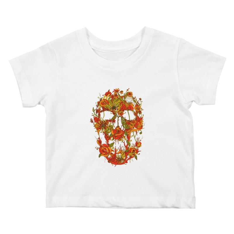 Skull Flora Kids Baby T-Shirt by nicebleed