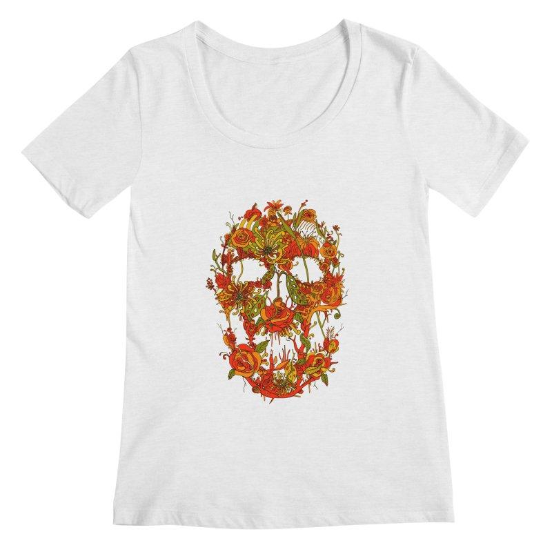 Skull Flora Women's Scoopneck by nicebleed
