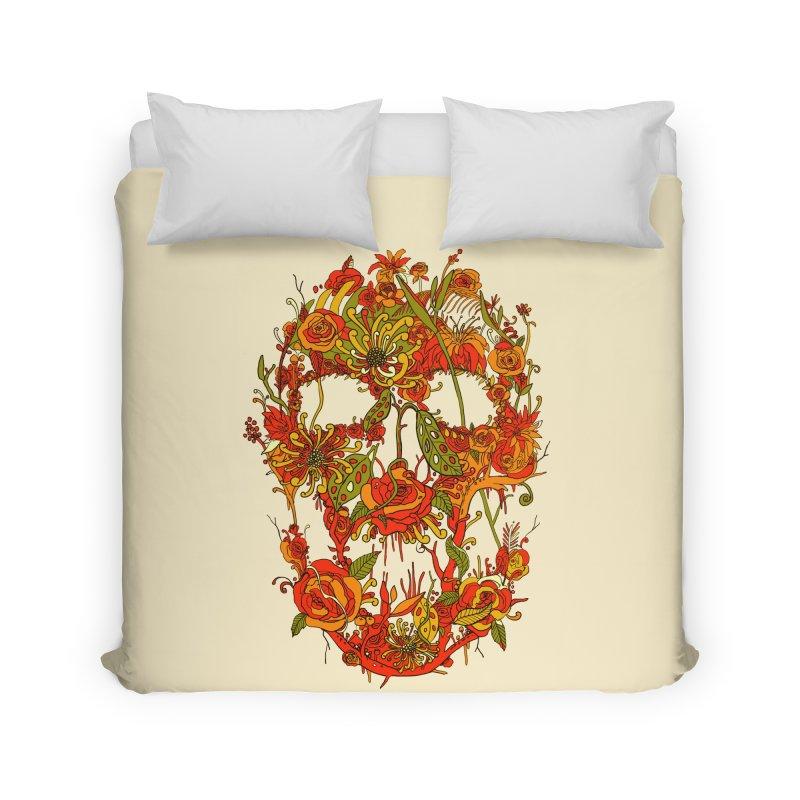 Skull Flora Home Duvet by nicebleed