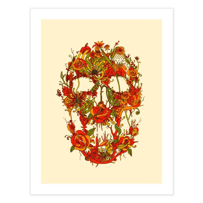 Skull Flora Home Fine Art Print by nicebleed
