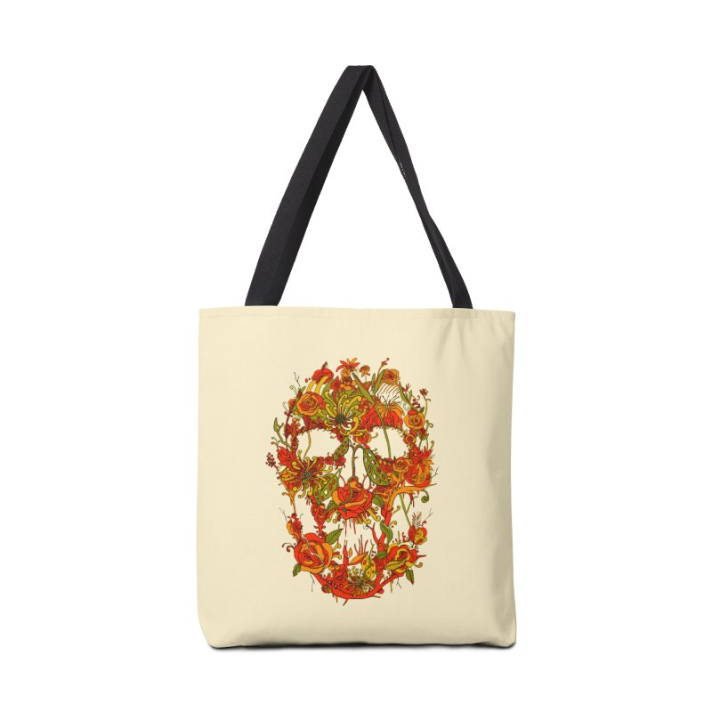 Skull Flora Accessories Bag by nicebleed