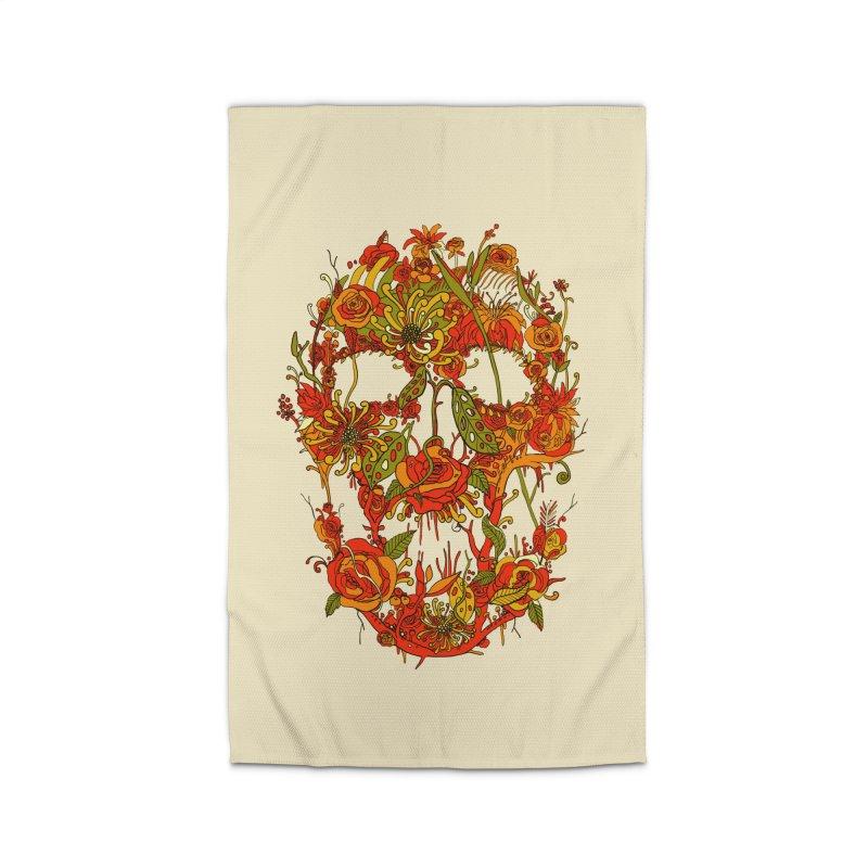 Skull Flora Home Rug by nicebleed