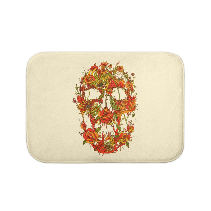 Skull Flora Home Bath Mat by nicebleed