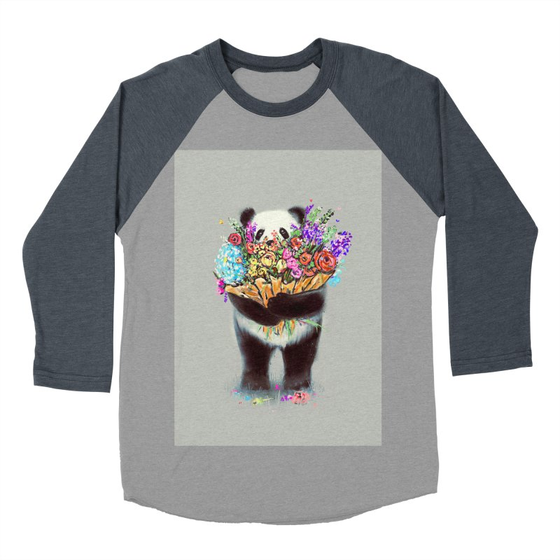 Flowers For You Men's Baseball Triblend T-Shirt by nicebleed