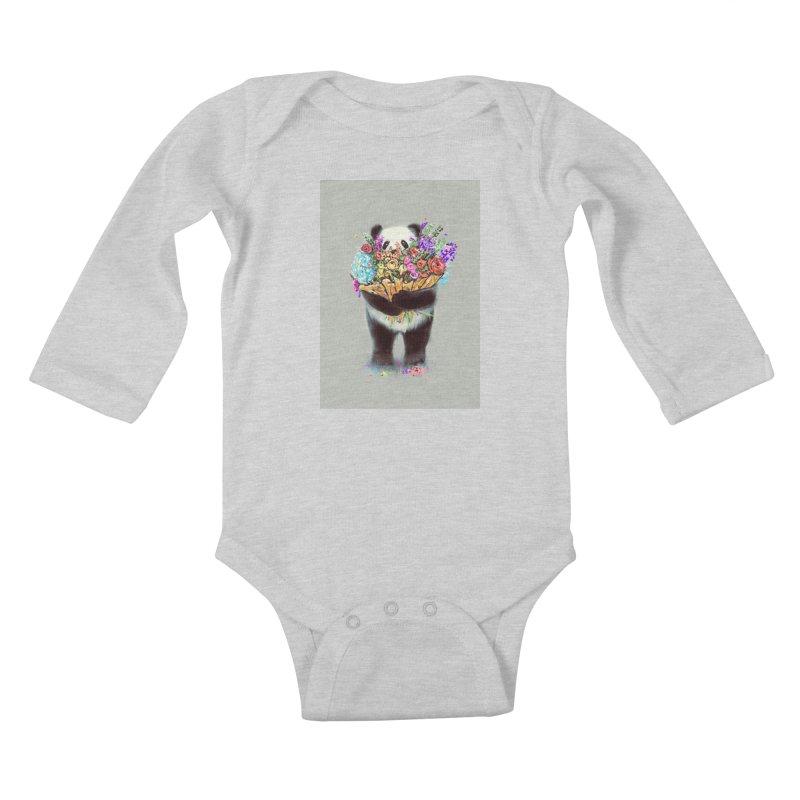 Flowers For You Kids Baby Longsleeve Bodysuit by nicebleed