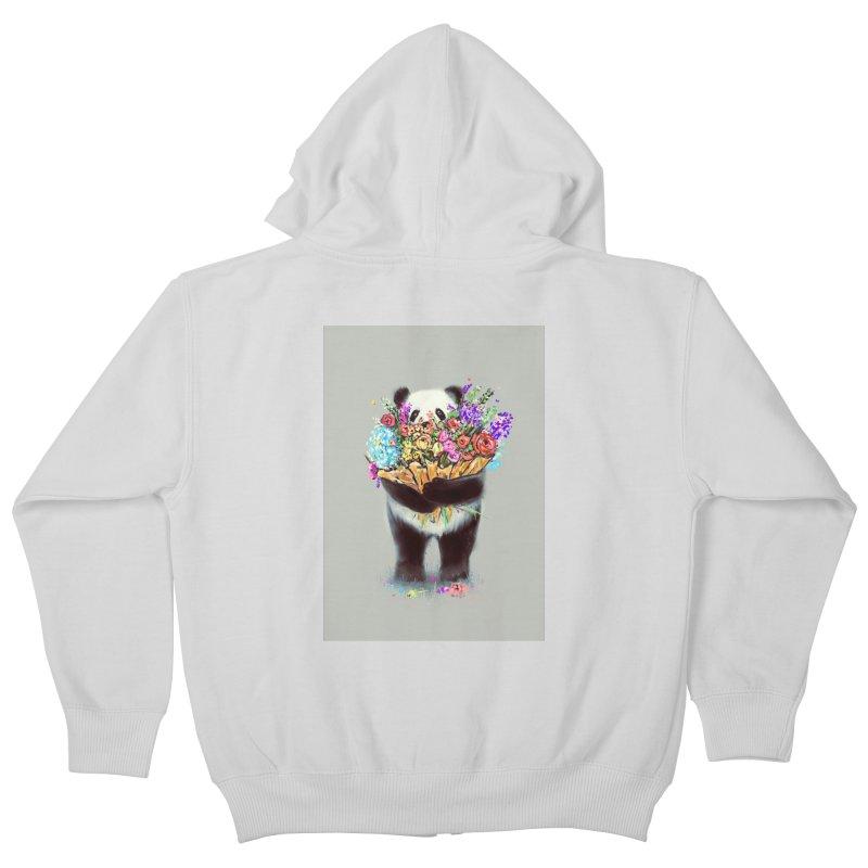 Flowers For You Kids Zip-Up Hoody by nicebleed