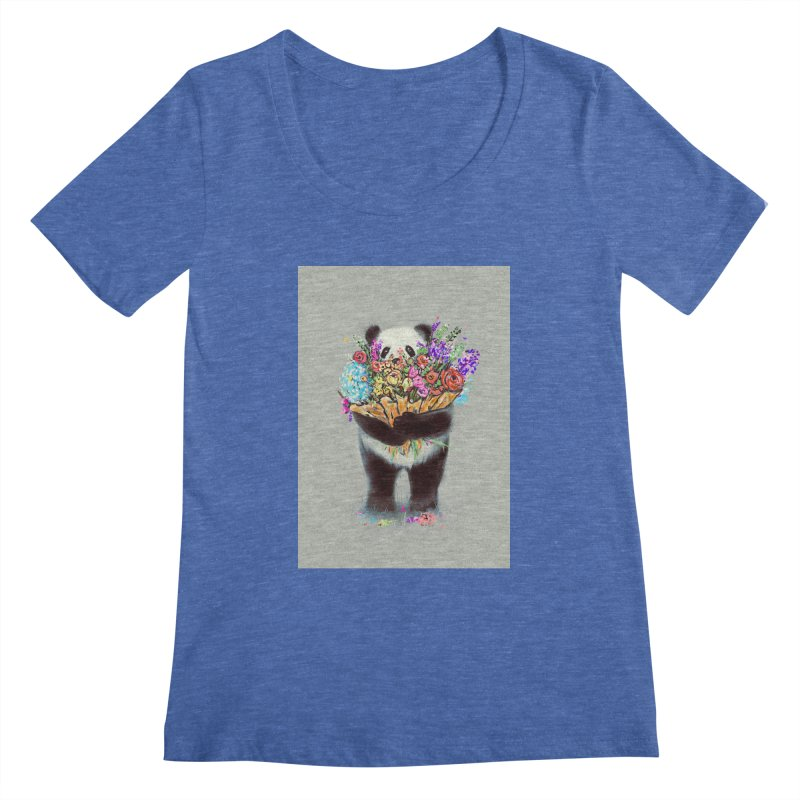 Flowers For You Women's Scoopneck by nicebleed