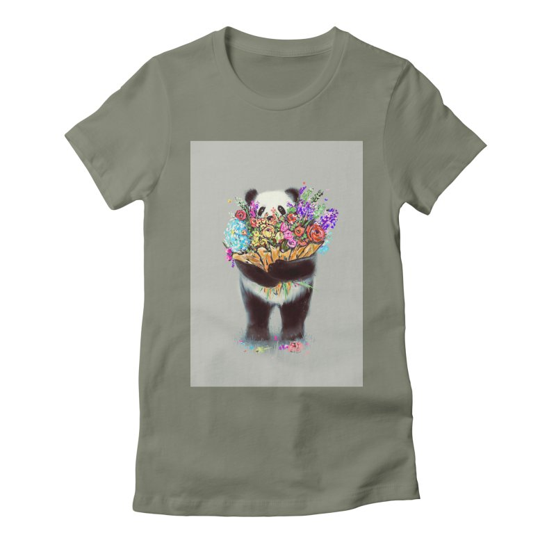Flowers For You Women's Fitted T-Shirt by nicebleed