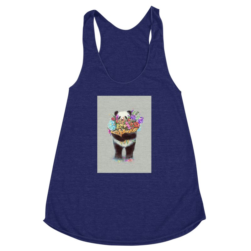 Flowers For You Women's Racerback Triblend Tank by nicebleed