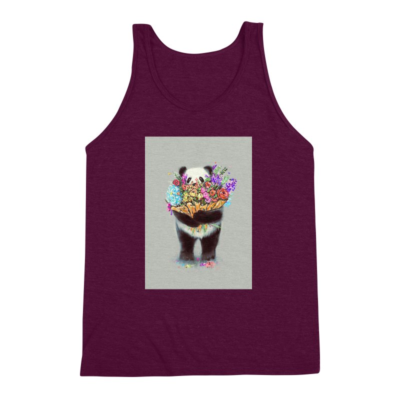 Flowers For You Men's Triblend Tank by nicebleed