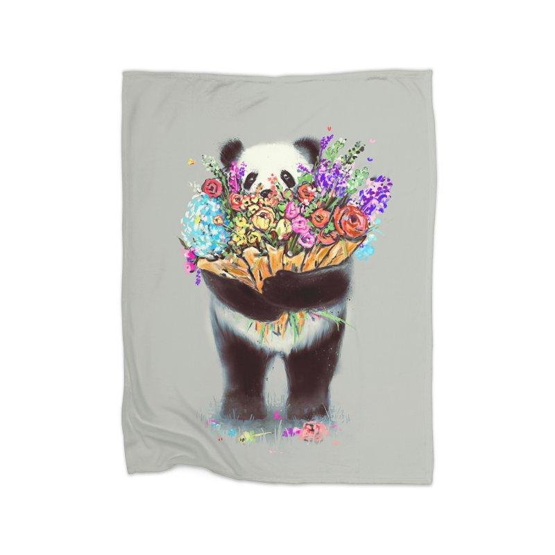 Flowers For You Home Fleece Blanket by nicebleed