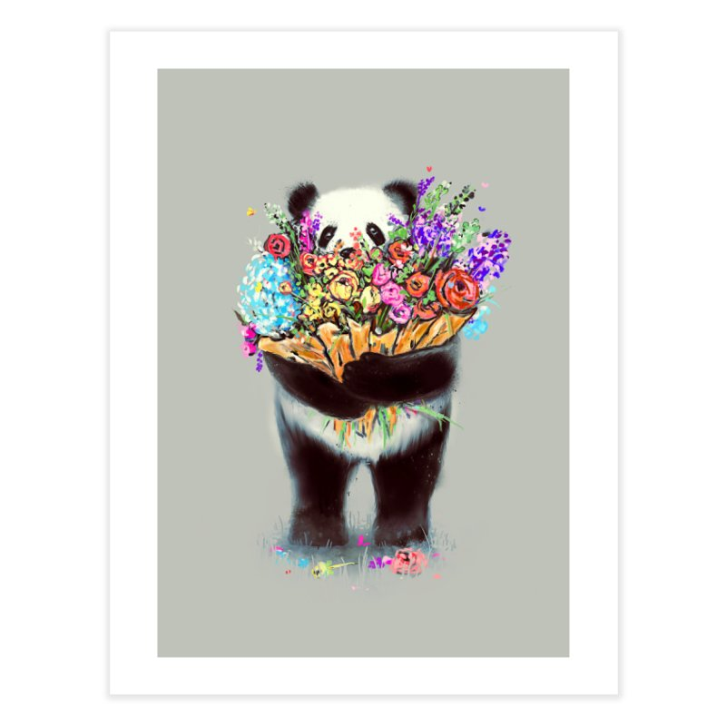 Flowers For You Home Fine Art Print by nicebleed