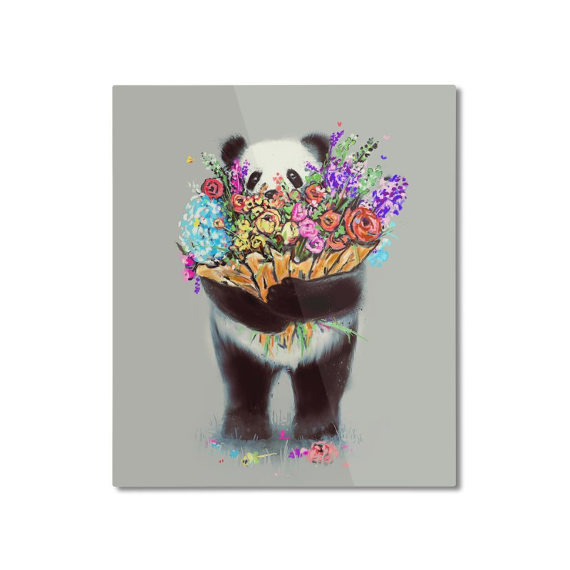 Flowers For You Home Mounted Aluminum Print by nicebleed