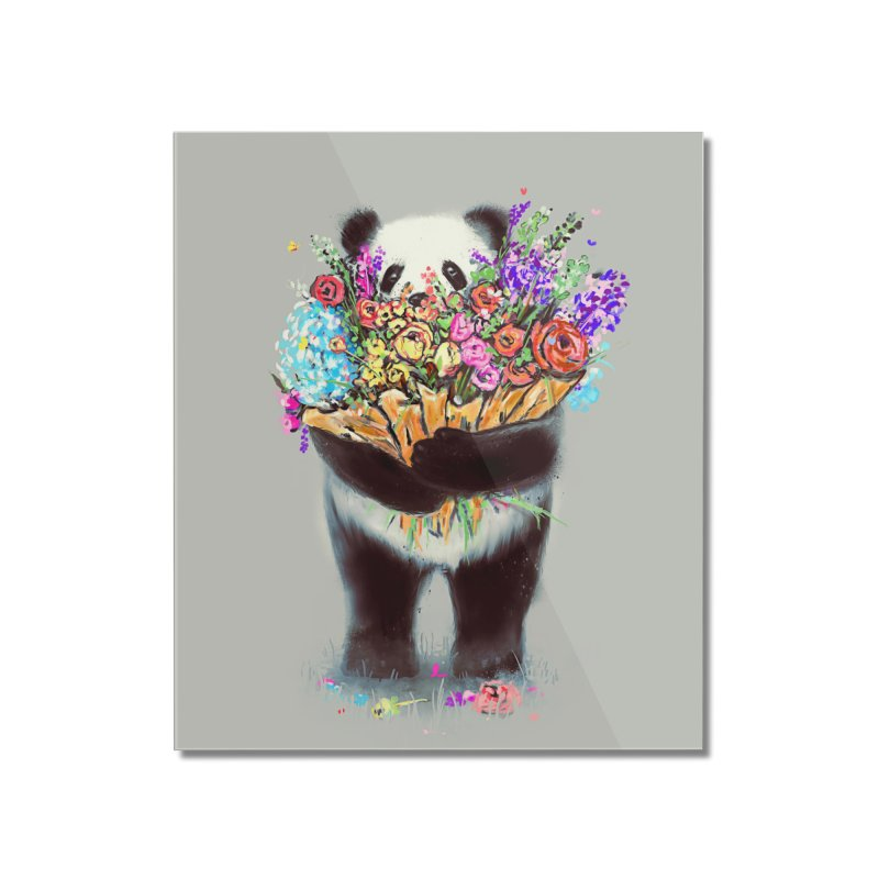 Flowers For You Home Mounted Acrylic Print by nicebleed