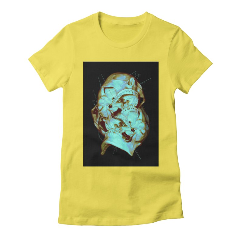 Dual Women's Fitted T-Shirt by nicebleed