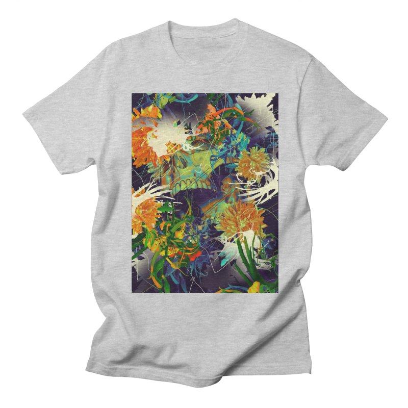 Skull Flora Men's T-Shirt by nicebleed