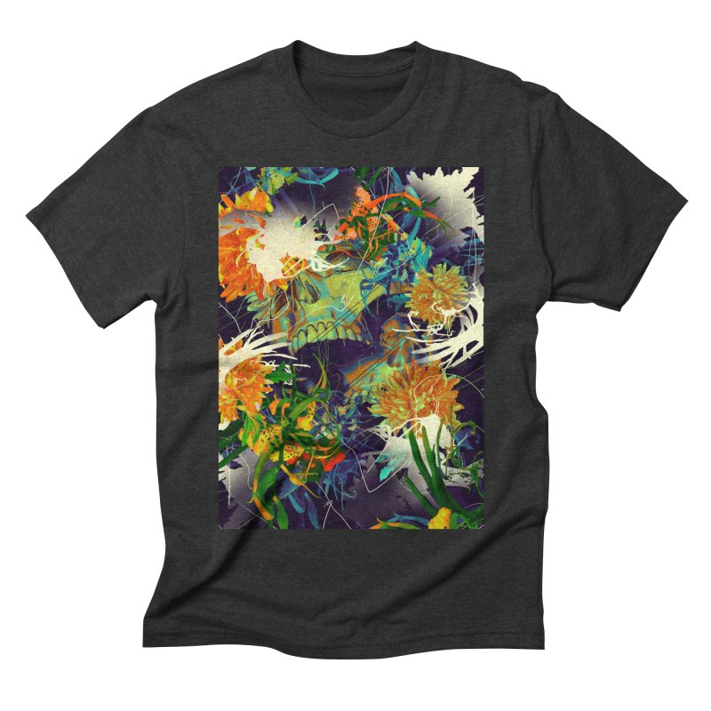 Skull Flora Men's Triblend T-Shirt by nicebleed