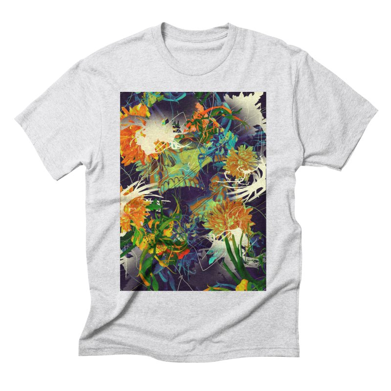 Skull Flora Men's Triblend T-Shirt by nicebleed