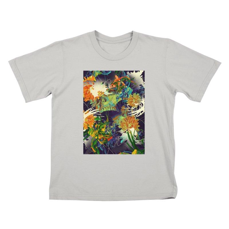 Skull Flora Kids T-Shirt by nicebleed