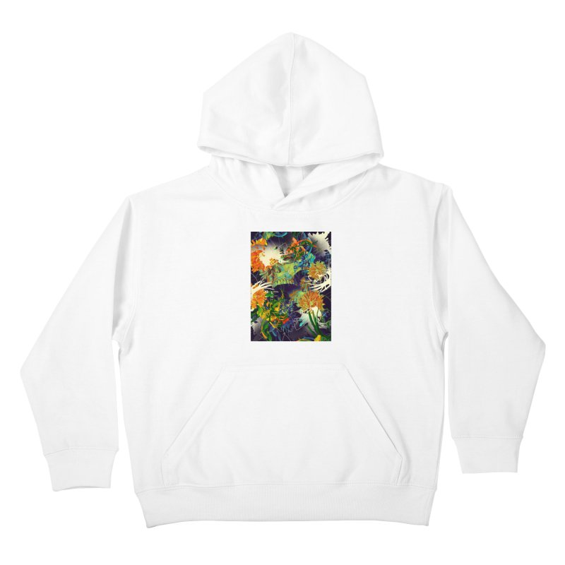 Skull Flora Kids Pullover Hoody by nicebleed