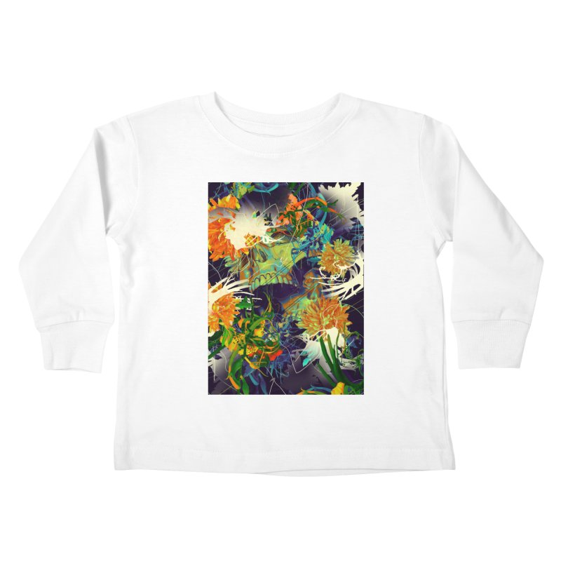 Skull Flora Kids Toddler Longsleeve T-Shirt by nicebleed