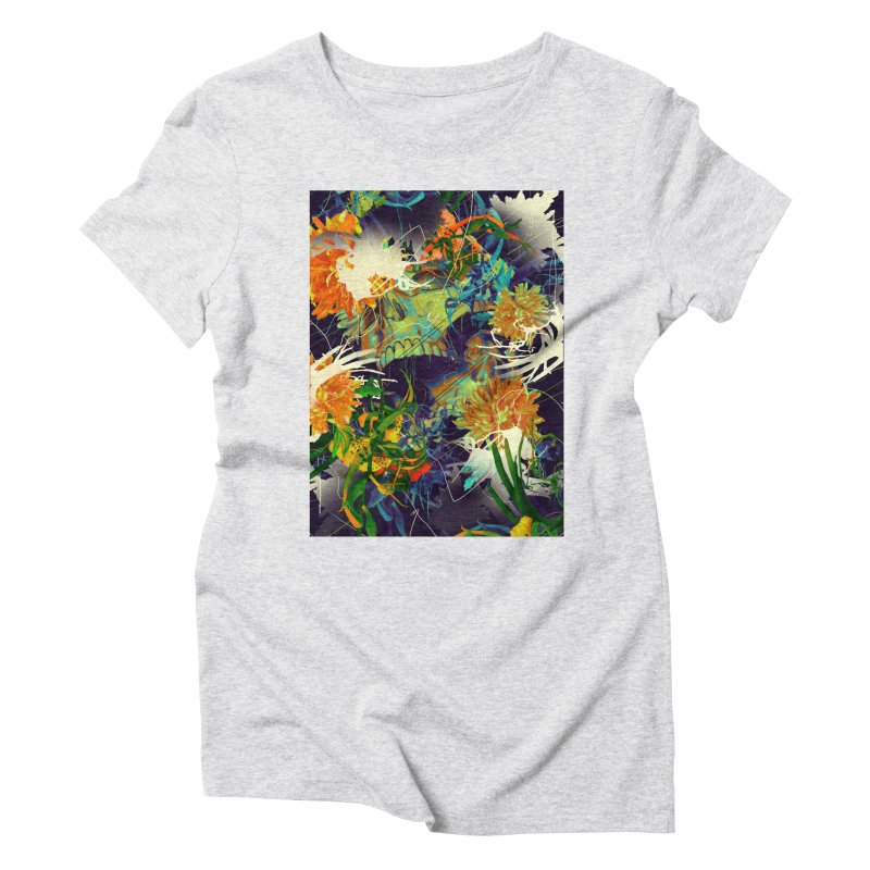 Skull Flora Women's Triblend T-Shirt by nicebleed