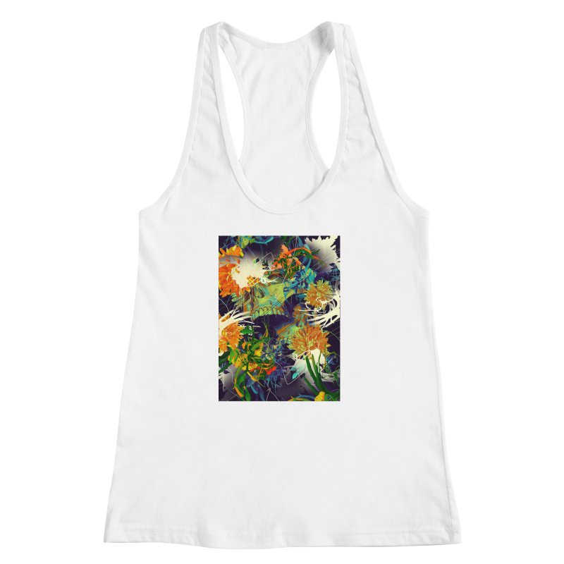 Skull Flora Women's Racerback Tank by nicebleed