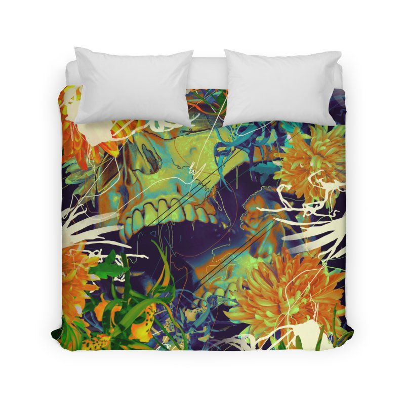 Skull Flora Home Duvet by nicebleed