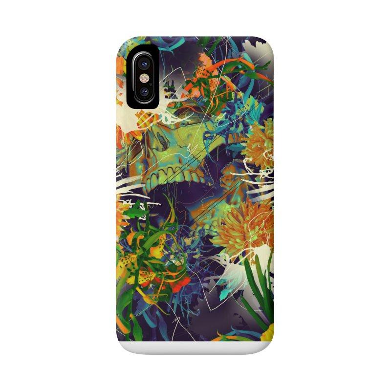 Skull Flora Accessories Phone Case by nicebleed