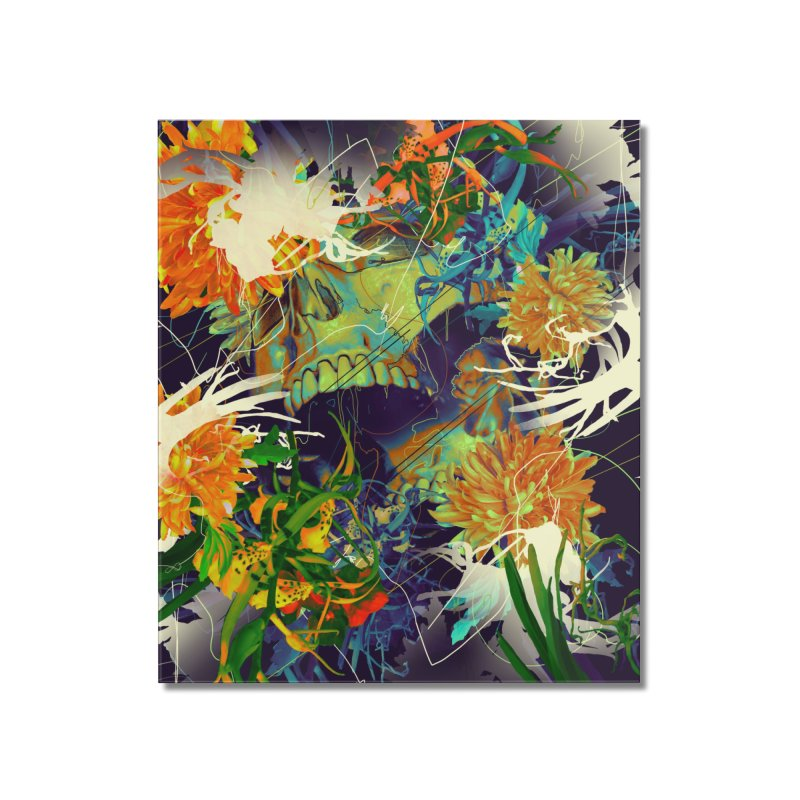 Skull Flora Home Mounted Acrylic Print by nicebleed