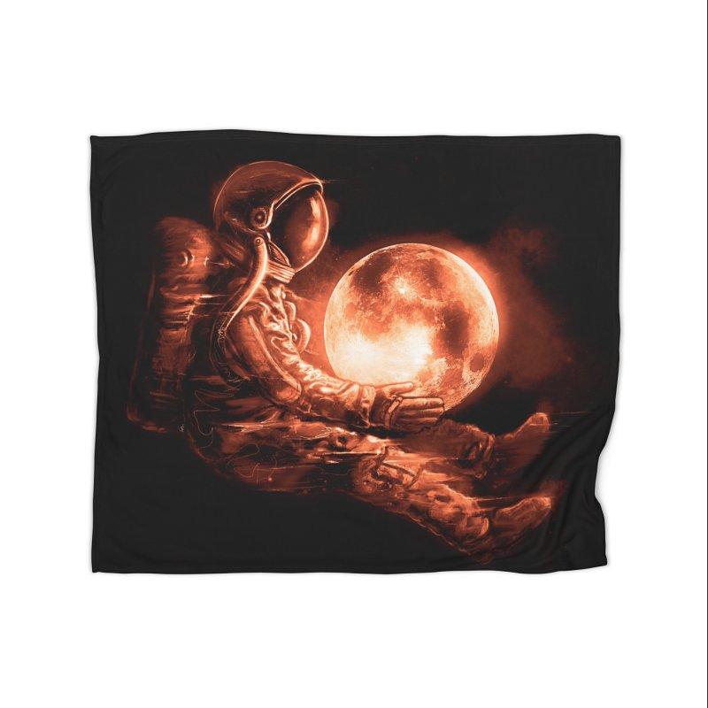 Moon Play Home Blanket by nicebleed