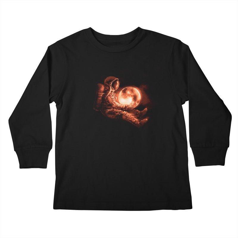 Moon Play Kids Longsleeve T-Shirt by nicebleed