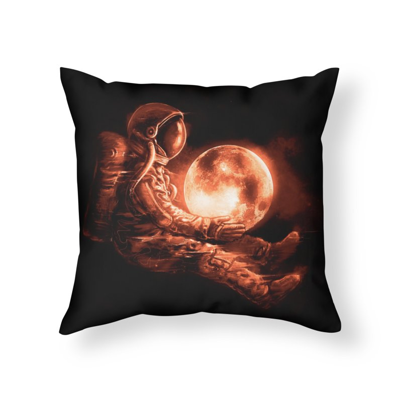 Moon Play Home Throw Pillow by nicebleed