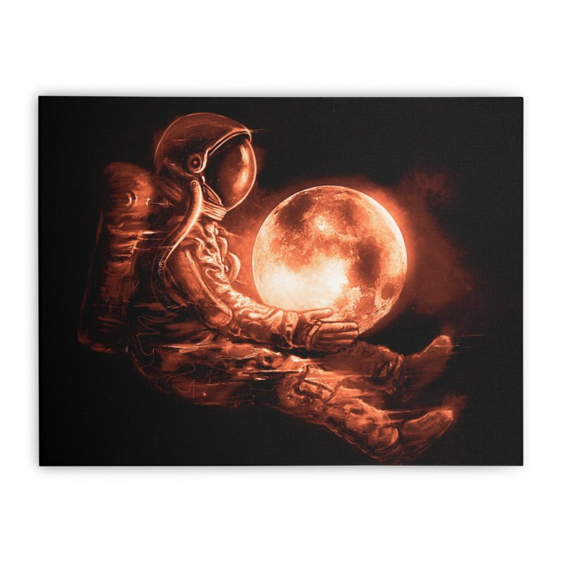 Moon Play Home Stretched Canvas by nicebleed