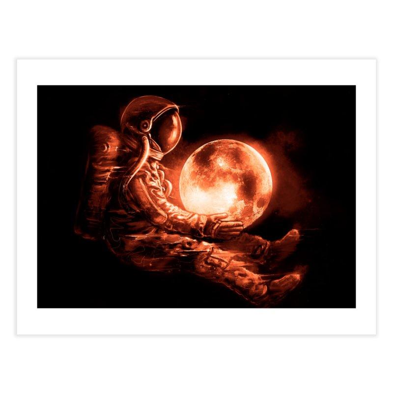 Moon Play Home Fine Art Print by nicebleed