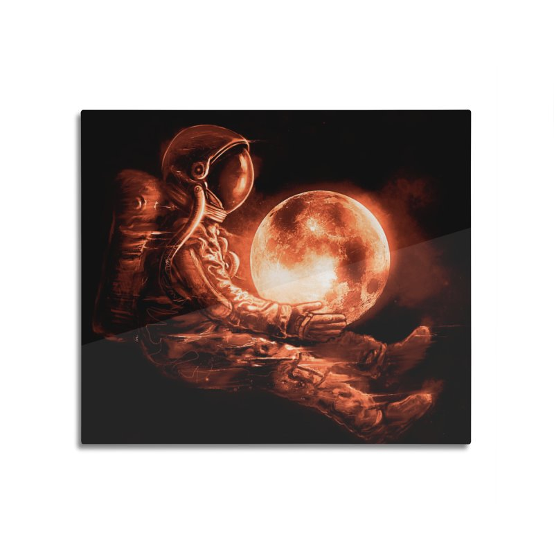 Moon Play Home Mounted Aluminum Print by nicebleed