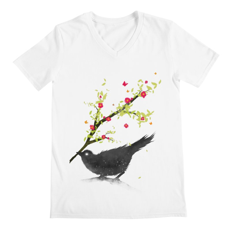 Spring Is Coming Men's V-Neck by nicebleed