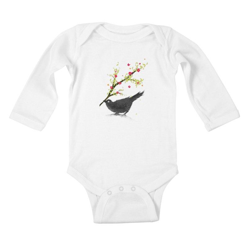 Spring Is Coming Kids Baby Longsleeve Bodysuit by nicebleed