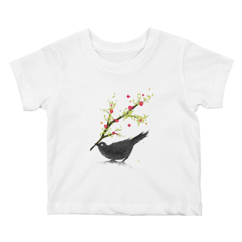 Spring Is Coming Kids Baby T-Shirt by nicebleed