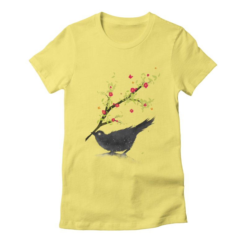 Spring Is Coming Women's Fitted T-Shirt by nicebleed