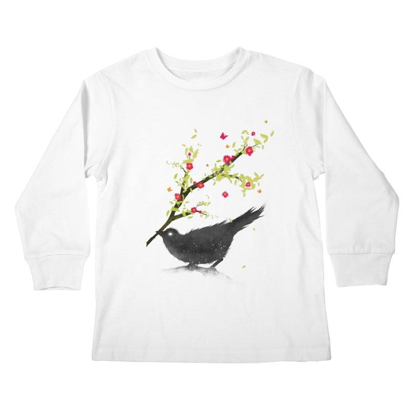 Spring Is Coming Kids Longsleeve T-Shirt by nicebleed