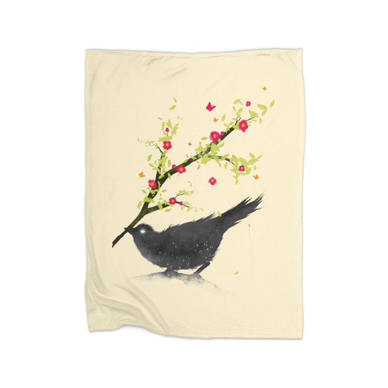 Spring Is Coming Home Fleece Blanket by nicebleed