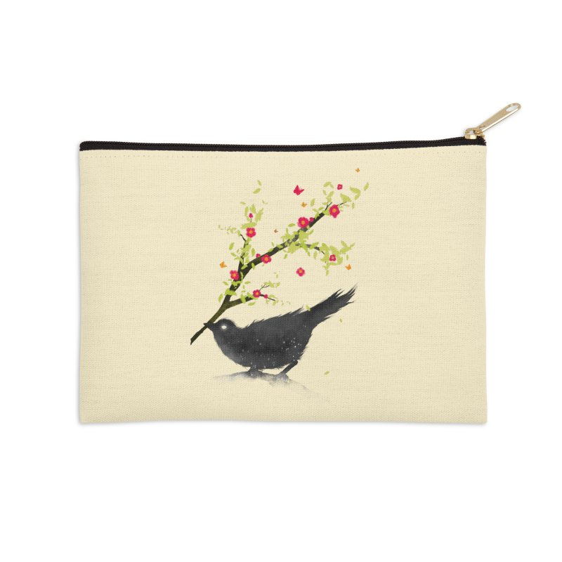 Spring Is Coming Accessories Zip Pouch by nicebleed