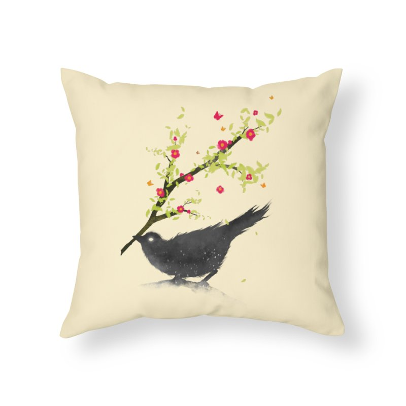 Spring Is Coming Home Throw Pillow by nicebleed