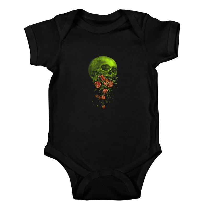 Vomit Kids Baby Bodysuit by nicebleed