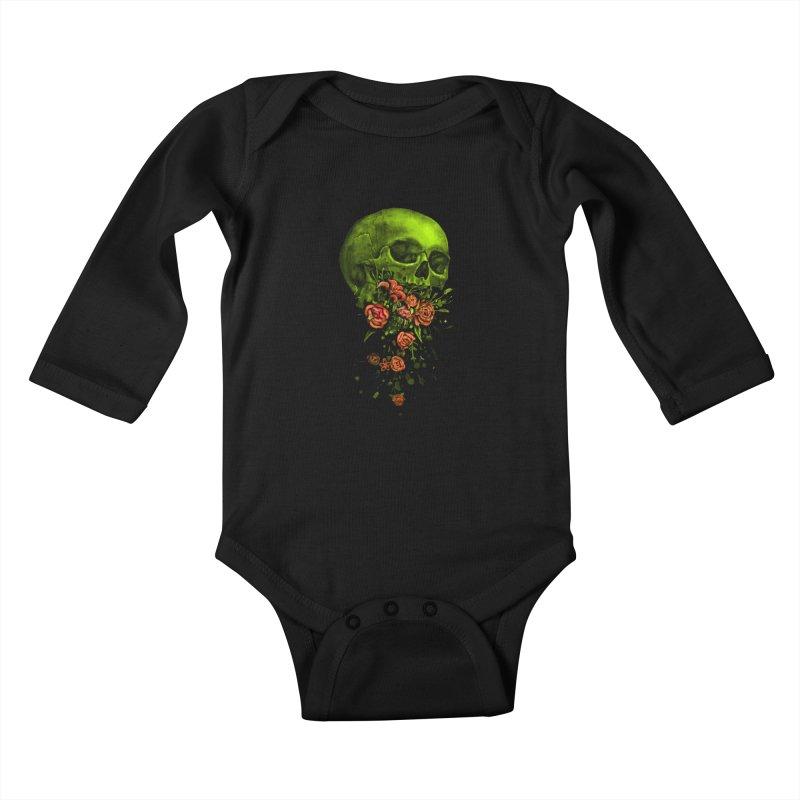 Vomit Kids Baby Longsleeve Bodysuit by nicebleed
